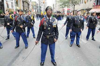 Xavier Regiment Marches in 2014 Columbus Day Parade